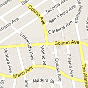 Solano Avenue, Berkeley and Albany. Source: Google Earth 2012