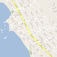 La Jolla Blvd corridor. Source: Google Earth 2012