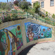 Mural celebrating the history and community leaders of the community garden. Source: MIG